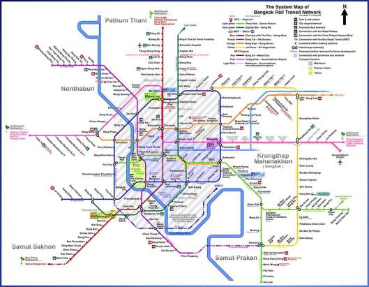 thailand -mrt map